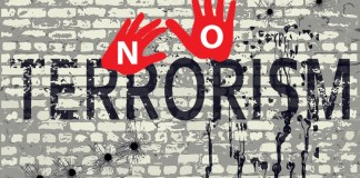 Preach 'say no to terror', for war is a consequence of terror