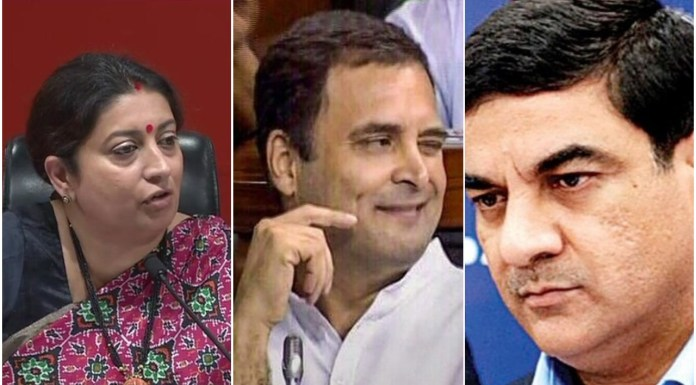 Smriti Irani says Rahul Gandhi's family has institutionalised corruption