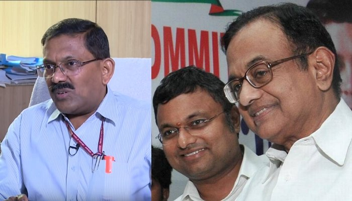 I-T Commissioner S. K. Srivastava complains to EC against Karti and P Chidambaram for allegedly using money power in elections