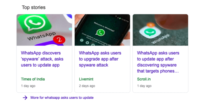 Whatsapp asks users to update app after security breach issue