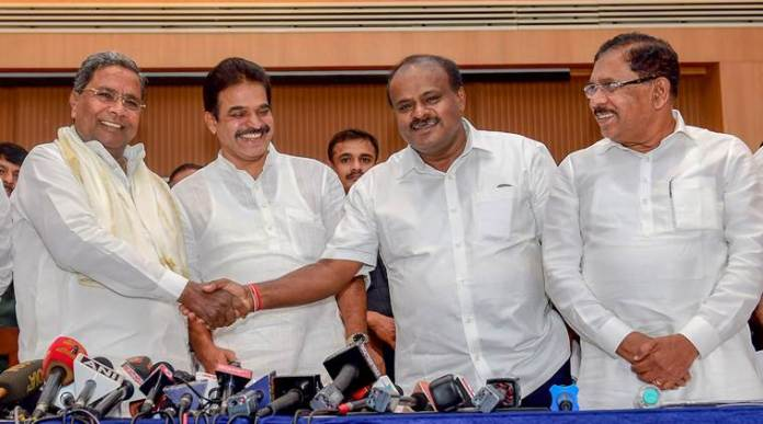 The coalition government in Karnataka may collapse if the Exit Polls hold true