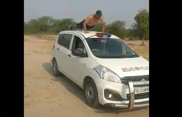 Delhi police TikTok stunt video