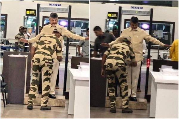 Naidu denied VIP access and frisked at airport