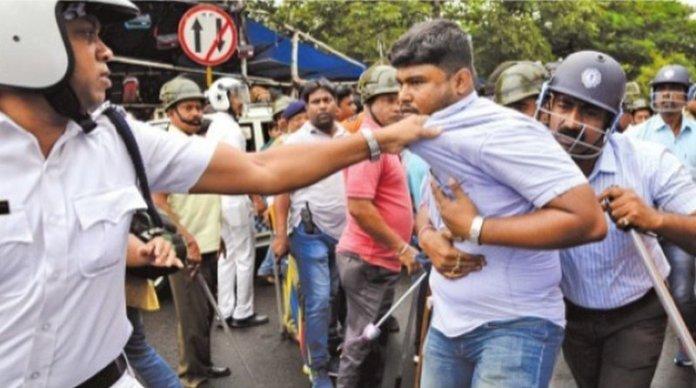 Protesting primary teachers