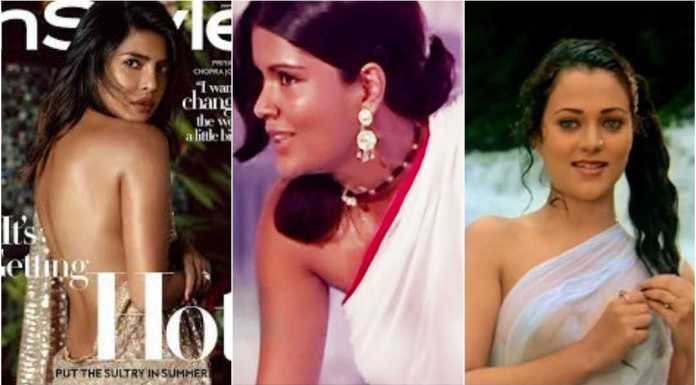Bollywood's Sarees have never needed blouses