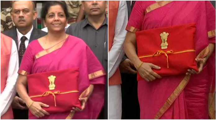 Nirmala Sithraman shuns the colonial baggage, arrives with the traditional 'Bahikhata' wrapped in red and gold