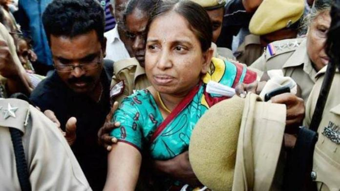 S. Nalini, a life convict in the case of assassination of former Prime Minister Rajiv Gandhi.