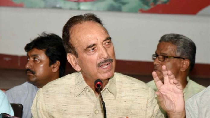 Ghulam Nabi Azad and Ghulam Ahmed Mir were detained at Srinagar airport and flown back to New Delhi