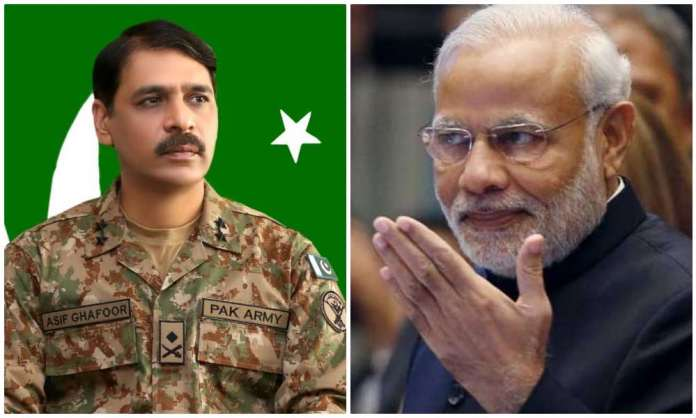 Pakistani minister Chaudhary Fawad Hussain and DGISPR Asif Ghafoor share pictures before PM Modi's arrival to claim 'empty stadium' at Howdy, Modi event