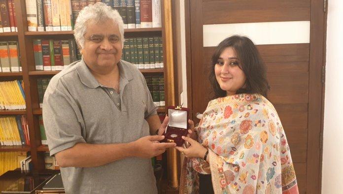 Sushma Swaraj's daughter Basuri presented Re 1 coin to advocate Harish Salve for defending Kulbhushan Jadhav at the ICJ
