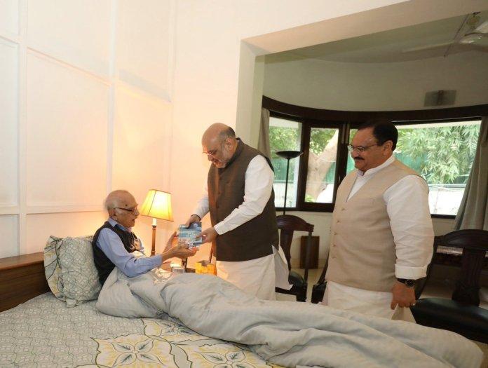 Amit Shah, JP Nadda meet Jagmohan, former J&K governor and saviour of Kashmiri Pandits over Article 370