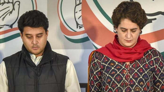 Scindia sidlined as Priyanka Gandhi Vadra is speculated to be declared as UP in-charge for 2022 assembly elections