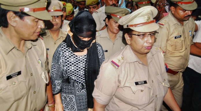 Law student who had accused BJP leader Swami Chinmayanand of rape arrested in extortion case (image: Deccanherald)