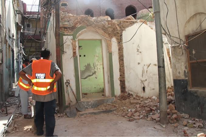 A renowned Ahmadiya mosque was demolished by Pakistan