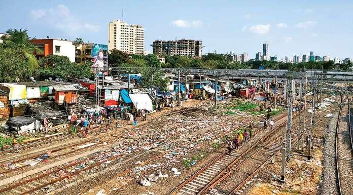 garbage on railway tracks