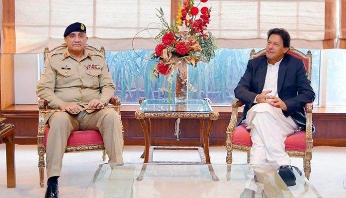 Pakistan PM Imran Khan and Army chief General Qamar Javed Bajwa