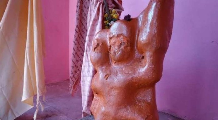 An unknown assailant desecrated the idol of Lord Hanuman in Uttar Pradesh's Agra city