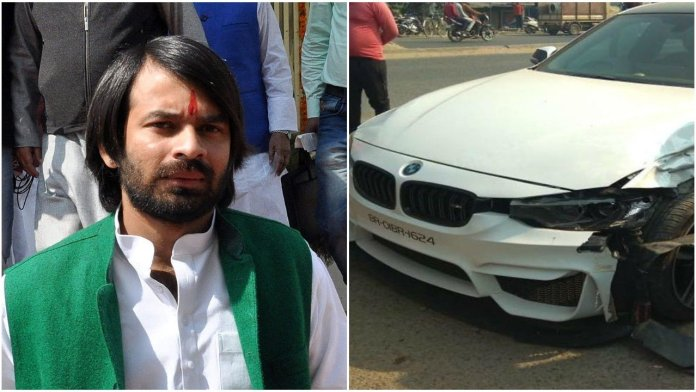 The driver of Tej Pratap's BMW allegedly beat up an auto rickshaw driver after the BMW hit it and suffered damages