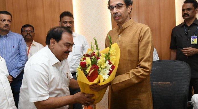 Eknath Khadse meets Uddhav Thackeray