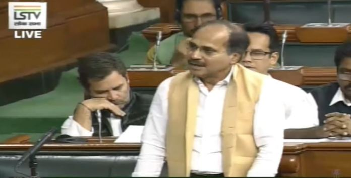 Rahul Gandhi found sleeping while Adhir Ranjan Chowdhury raises the important issue of Chinese intrusion into Indian territory