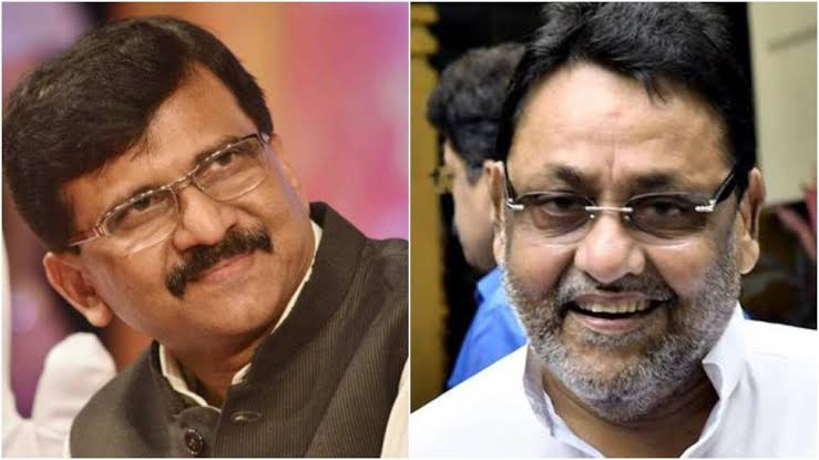 NCP's Nawab Malik asks Shiv Sena's Sanjay Raut to 'cross all limits in love' after both parties ally