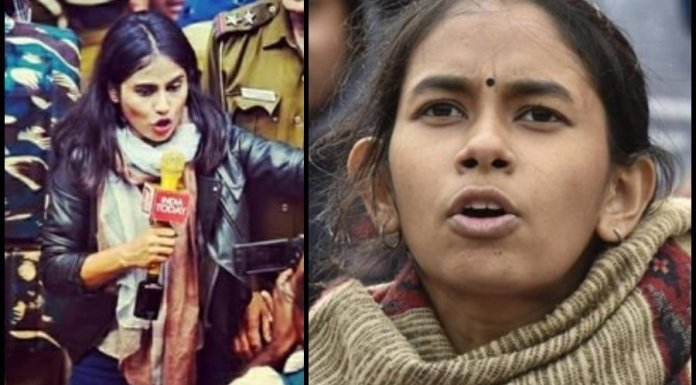 India Today journalist who was caught whispering in JNUSU VP's ears had heckled Republic reports along with Aishe Ghosh in November