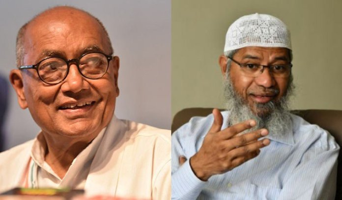 Digivijaya Singh who once shared stage with Zakir Naik is asking clarifications from the BJP over Naik's recent remarks