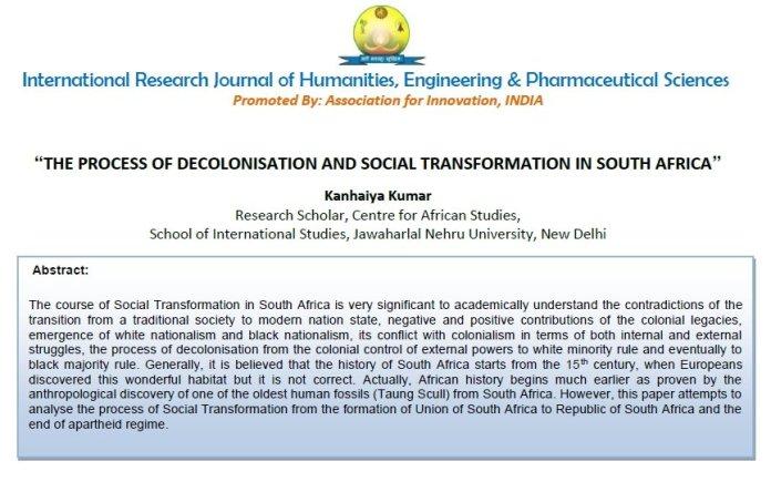 PhD Paper of Kanhaiya Kumar