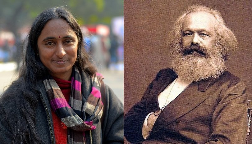 Marxist Kavita Krishnan lies about Karl Marx, says the son of a lawyer came from an extremely poor family