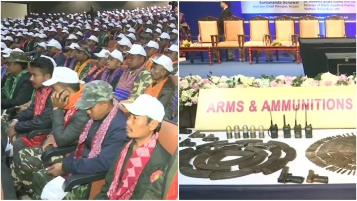 1615 NDFB cadre lay down arms at Guwahati after historic peace treaty
