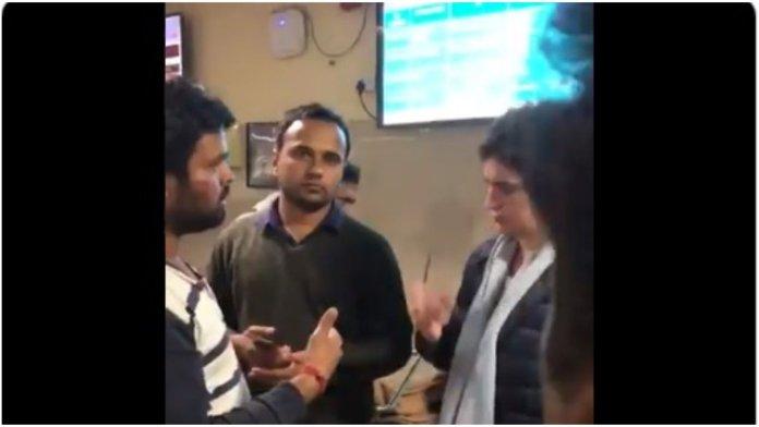 Viral video shows Congress general secretary Priyanka Gandhi ignoring injured ABVP student and walking away