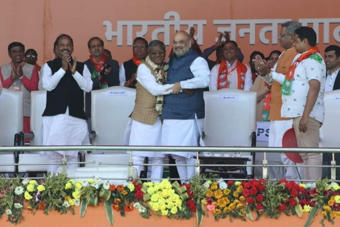 JVM merges with BJP in presence of Union HM Amit Shah and BJP party president JP Nadda
