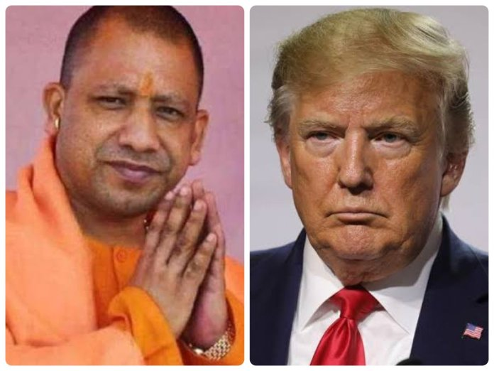 UP CM Yogi Adityanath welcomes US President Donald Trump to the pious land of Lord Ram