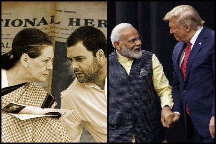 Congress mouthpieces derides India, PM Modi and Donald Trump ahead of historic meet