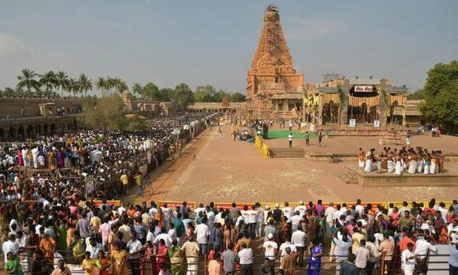 Thanjavur big temple Consecration