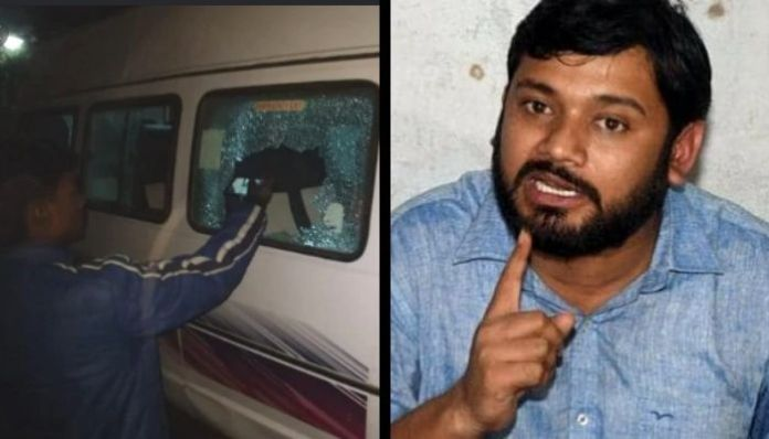 The convoy of Kanhaiya Kumar was attacked by 3, Shiv Sena worker held