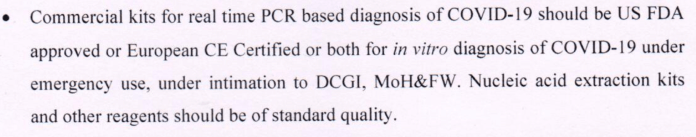 ICMR notification about Covid-19