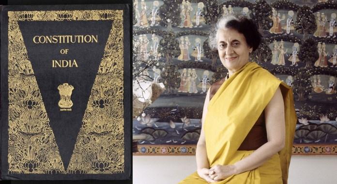 Indira Gandhi preamble constitution