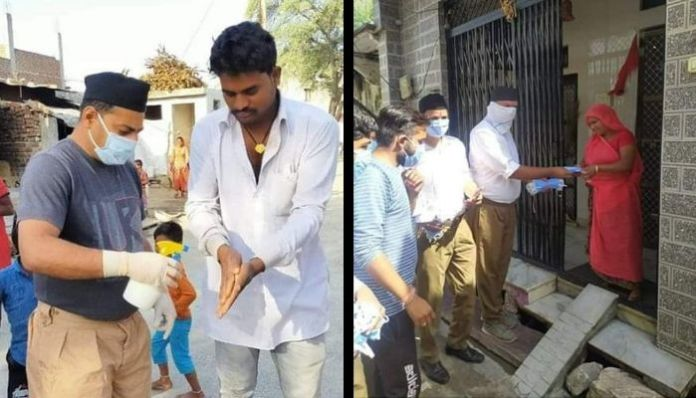 Coronavirus Scare: RSS distributes masks, sanitisers and soaps