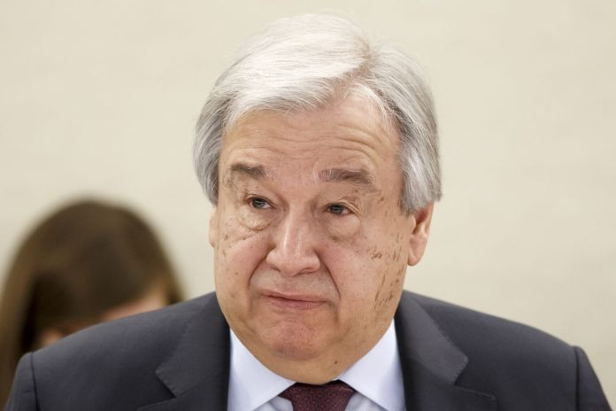 UN Secretary General Antonio Guterres warned about extremists using lockdown to recuit youth online