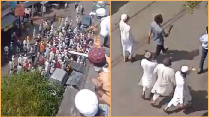 Curfew imposed in Balbhoonpura after hundreds of Muslim protesters shouting