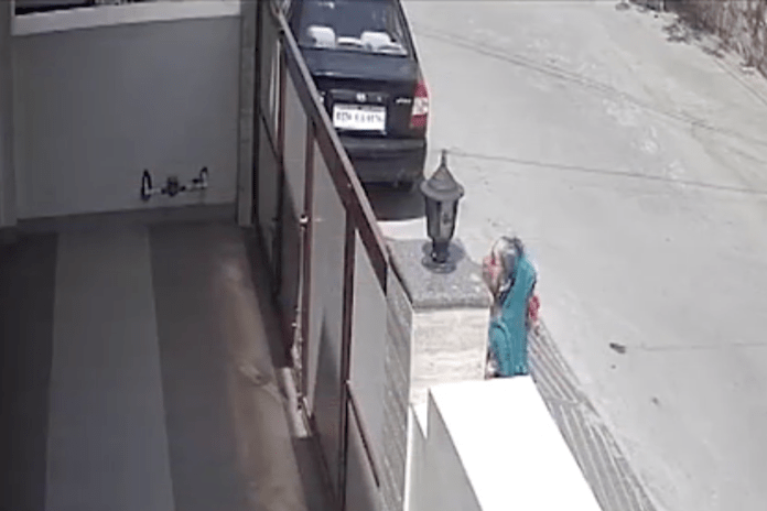 Women spitting inside houses in a posh locality in Kota caught on camera
