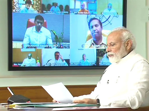 PM Modi holds meeting with floor leaders