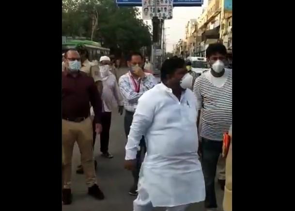 AAP MLA Imran Hussain defies lockdown norms