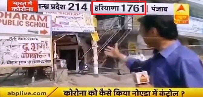 ABP news spreads fake news against Haryana