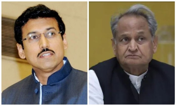 BJP leader Rajyavardhan Rathore writes to Ashok Gehlot, demands a CBI probe into SHO Vishnoi's suicide case
