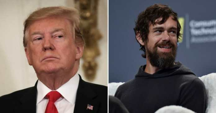 Donald Trump is in a heated battle against Twitter and CEO Jack Dorsey