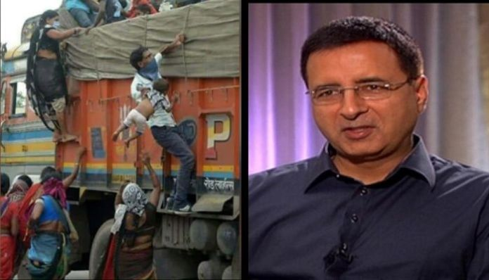 Randeep Surjewala shares migrant's from Chattisgarh to target PM