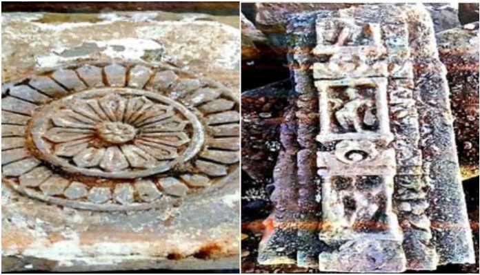 Old Hindu sculptures, broken idols found during excavations for Ram Janmabhoomi temple in Ayodhya