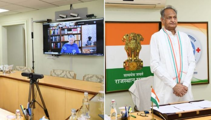 Rajasthan CM Ashok Gehlot had tweeted the pictures of the CWC meeting